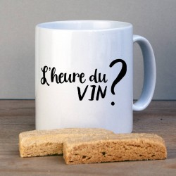 Best Friend Time For Wine French Personalised Mug