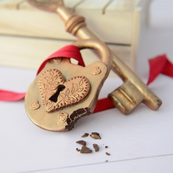 Chocolate Heart Padlock