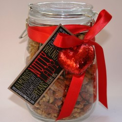Sweet & Spicy Mixed Nuts Kilner Jar for Valentine's Day