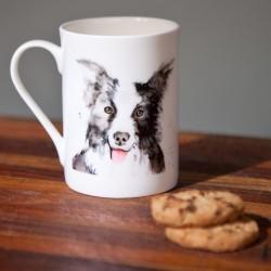 Inky Dog Fine Bone China Mug