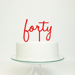 Personalised Birthday Age Word Cake Topper