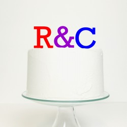 Personalised Initial Ampersand Cake Topper