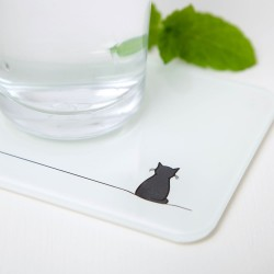 Sitting Cat Coasters - Set of 2