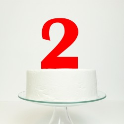 Personalised Birthday Age Number Cake Topper