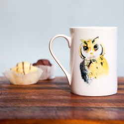 Inky Owl Fine Bone China Mug