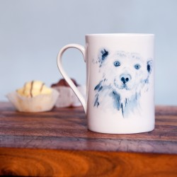 Inky Polar Bear Fine Bone China Mug
