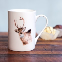 Inky Reindeer Fine Bone China Mug