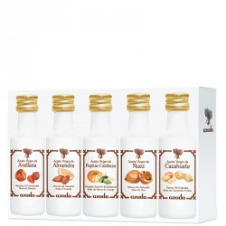 Cold Pressed Nut Oil Set: Hazelnut, Walnut, Almond, Pumpkin Seed and Peanut