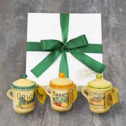 Set of 3 Terracotta Herb Pots