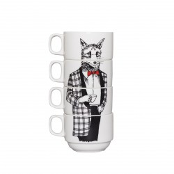 Mr Fox Stackable Coffee Cups