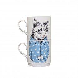 Cat's Pyjamas Stackable Tea Mugs