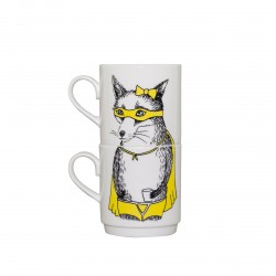 Bandit Fox Stackable Tea Mugs