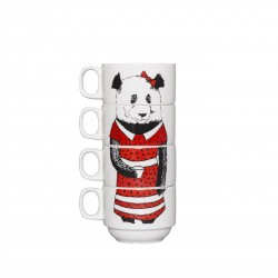 Miss Panda Stackable Coffee Cups