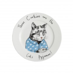 These Cookies are the Cat's Pyjamas Side Plate