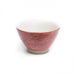 Red Blossom Japanese Tea Cup