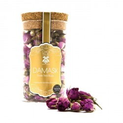 Damask Rose Buds (Elegant Glass Canister)