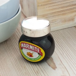Personalised Silver Marmite 125g Jar Lid