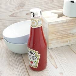 Personalised Silver Ketchup Bottle Lid
