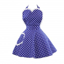 Deliciously Dotty Royal Blue Polka Dot Women's Sweetheart Apron