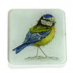 Glass Coasters (set of 2) - Blue Tit