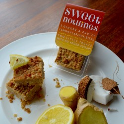 Ginger and Fruity Lemon Flapjack Bites - No Added Sugar