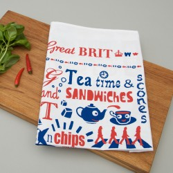 Great Brit Illustrated Tea Towel