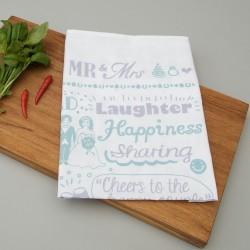 Mr & Mrs Tea Towel