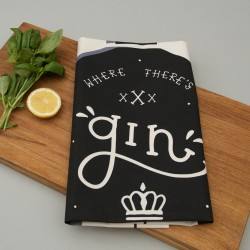 Where There's Gin There's Hope Tea Towel