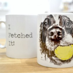 I Fetched it. Happy Spaniel Mug