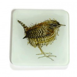 Wren Glass Coasters - Set of 2