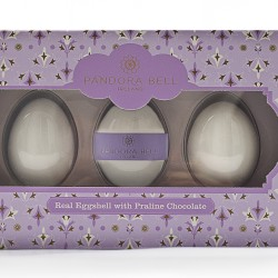 Real Eggshell with Praline Chocolate: Gift Box of Three