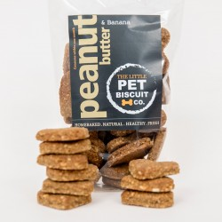 Handmade Peanut Butter & Banana Dog Biscuits