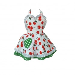 Cherry Bakes Well Children's Apron