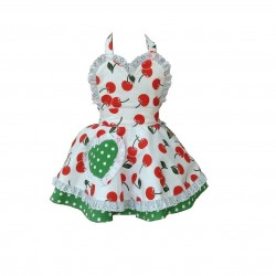 Cherry Bakes Well Children's Apron (Age 8-11)
