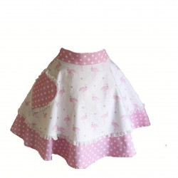 Pretty Flamingo Adult Hostess Apron