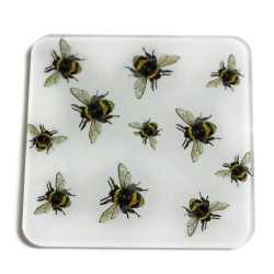 Glass Coasters (set of 2) - Multi Bees