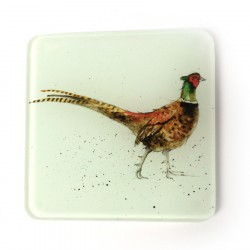 Pheasant Glass Coasters (set of 2)