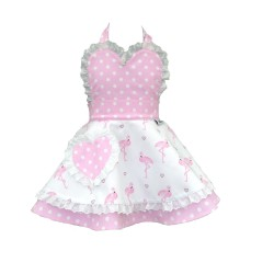 Little Miss SundayGirl Pretty Flamingo Children's Apron. Age 8-11yrs
