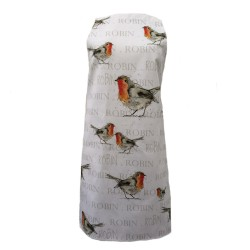 Robin Apron - Christmas - 100% Cotton - Made in England