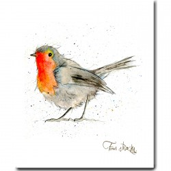 Robin Tea Towel - Christmas Kitchen - Made in England