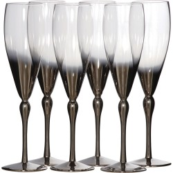 Silver Plated Champagne Flutes Set Of Six