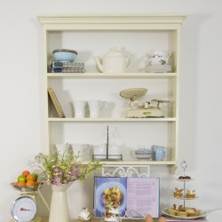 Old English Painted Open Kitchen Wall Shelf