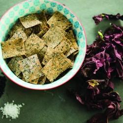 Rysp Rye Sourdough Crisps - Seaweed (Dulse) and Black Sesame Seed (6 x 120g)