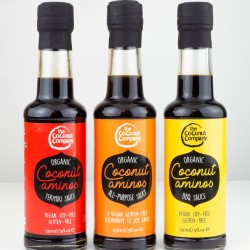 Organic Amino Sauce Three Pack (Natural Soy Sauce Alternative, Barbecue Sauce and Teriyaki Sauce)