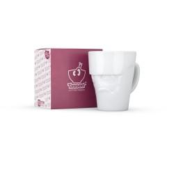White Porcelain 'Grumpy' Mug by Tassen