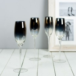 gold plated champagne glasses