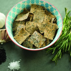 Rysp Rye Sourdough Crisps - Garlic and Rosemary