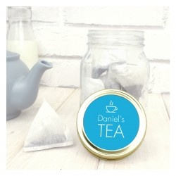 Personalised Jar With Tea