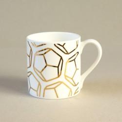 Gold Dodecahedron Mug