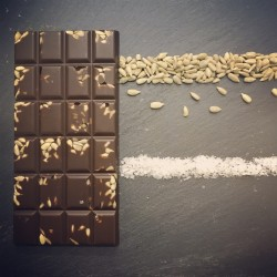 3 Handmade Dairy Free Milk Chocolate Bars with Sunflower Seeds and Sea Salt